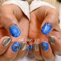 #デニムnail #nail salonJOJO #ネイルブック