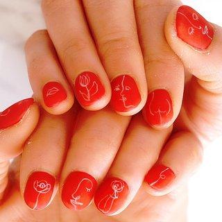 #ショートネイル#赤#シンプル#個性派ネイル #ange nail salon #ネイルブック