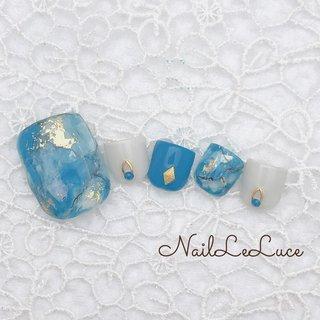 ┴─┴┴─┴┴─┴┴─┴.✩.*˚ . 天然石シリーズはフットにも とっても清々しい色 . ・✩.*˚┴─┴┴─┴┴─┴┴─┴ . . . .  #nailstylist #nailsaddict #nailsnailsnails #coolnailart #frenchnails #simplenails #beautyas #ikebukuro #privetesalon #nailleluce #turquoisenails  #シンプルネイル #スタイリッシュネイル #シンプルなネイルが好き #池袋南口 #プライベートサロン #大人のネイルサロン #大人のネイルアート #オトナ女子ネイル #気分が上がるネイル #ターコイズネイル #ターコイズブルー  #ターコイズデザインネイル #夏 #旅行 #海 #リゾート #フット #hiramiu•*¨*☆*・゚〖NailLeLuce〗 #ネイルブック