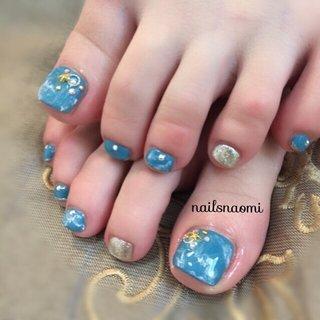 このグリーンのようなブルーがすてき♥️ ・ 明日朝一キャンセル入りました🐻♥️10時〜 ご連絡お待ちしてます✨ ・ ・ #nail #nails #nailsnaomi #footnail #footgel #bluenails #福岡ネイル #城南区ネイル #七隈線 #福大駅から徒歩10分 #駐車場ありネイルサロン #nailsnaomi_ #ネイルブック