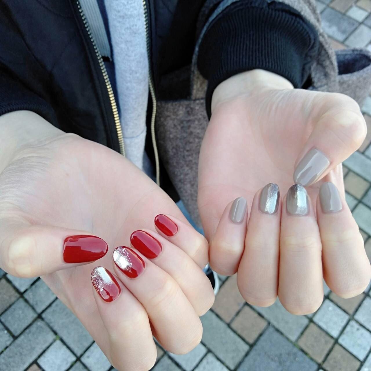 #アシメネイル #nail salon PROTEA #ネイルブック