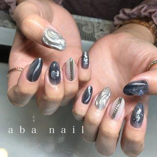 _  いつもありがとうございます!✨ #シンプルネイル#nail#nails#名古屋ネイルサロン#nailstagram#eye#美甲#個性派ネイル#ニュアンスネイル#名古屋サロン#blue#art#artwork#artist#artistry#artworks#ネイル#art#nailfashion#nailscompetition#competition#instagood#instafashion#instapic#個性的ネイル#ネイル サロン #春 #夏 #オールシーズン #ハンド #タイダイ #大理石 #ニュアンス #ミディアム #ホワイト #グレー #シルバー #ジェル #tae_nail #ネイルブック