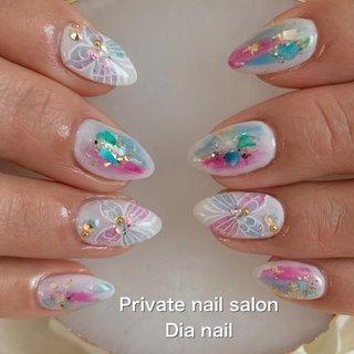 #春 #シンプル #グラデーション #Private nail salon Dia nail #ネイルブック