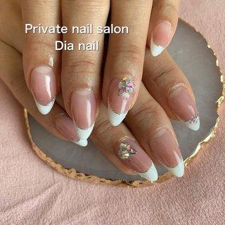 #春 #卒業式 #入学式 #シンプル #フレンチ #Private nail salon Dia nail #ネイルブック