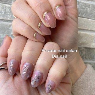 #春 #秋 #グラデーション #ニュアンス #Private nail salon Dia nail #ネイルブック