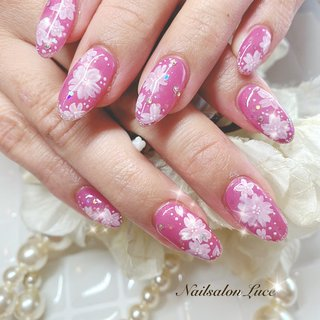 #春#桜#フラワー#ピンク #Luce 〜ルーチェ〜 #ネイルブック