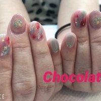#chocolat #ニュアンス  #キャンペーン  #キャンペーンネイル  #押し花   #いつもありがとうございます❤️ #chocolat214 #ネイルブック