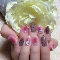 #Nailbook #ピンク #ブラック #n_e_angie #ネイルブック