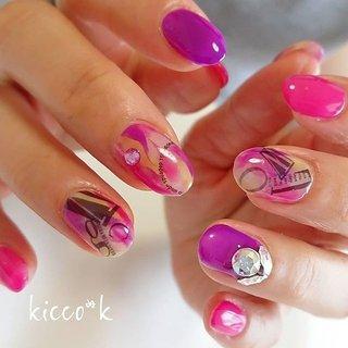 派手カワ💓  #ピンク & #パープル  #ニュアンスネイル  #イエロー で春っぽく😊  #coolnails #bijou #nail #nails #nailsalon #instanails #nailswag #nailstagram #nailart #naildesign #gelnails #manicurist #ネイル #ネイルデザイン #大人ネイル #ジェルネイル #ネイルサロン #八潮市 #八潮ネイル #八潮ネイルサロン #足立区ネイルサロン #北千住ネイルサロン #六町ネイル #自宅サロン #kicco_k #春 #夏 #ライブ #女子会 #ハンド #イニシャル #ニュアンス #マーブル #ミディアム #ピンク #パープル #ネオンカラー #ジェル #お客様 #kicco_k.nail #ネイルブック