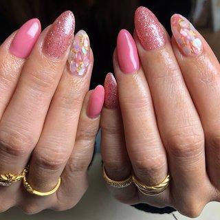 #オフィスネイル #春ネイル #上品ネイル #入学式 #お呼ばれネイル #大人可愛い #ピンク #aleum #ネイルブック