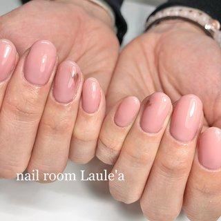 #バレンタイン#ハートピーコック#ピーコック#シンプル #ワンカラー #ピンク#オフィス #ワンカラー #ピーコック #ピンク #nail room Laule'a_eri #ネイルブック