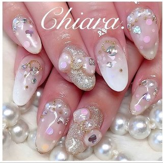 *   #Whitenails 💍♡ (スライド3枚目にMovie有📹💋♥︎)    ✨ ホワイト系 & ラブリー系 ✨ リクエストのお任せdesign💍♡   いつも ありがとう ♪ ☺︎ 💋♥︎      #nails#nailart#japannail#beauty#beautiful#fashion#cute#gelnails#ribbonnails#heartnails#White#nailbook#naildesign#美甲#美爪#ホワイトネイル#白ネイル#リボンネイル#3dnailart#キラキラネイル#ハートネイル#ドットネイル#ネイルブック#ネイルデザイン#ホワイトデーネイル#ネイル#chiaranails      Instagram → yochan4.nail #シースルー #3D #ドット #リボン #ホワイト #YokoShikata♡キアラ #ネイルブック