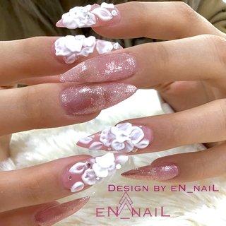 #3d #春 #春ネイル #ロング #eN_naiL #ネイルブック