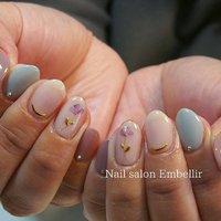 #シンプルネイル #高松ネイルサロン #オフィスネイル #春ネイル #nailsalonembellir #Nail salon Embellir #ネイルブック