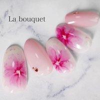 pink flowers🌸  存分にフラワーネイルの可愛さをアピールできる季節がやってまいりましたよ😤 #La bouquet ウサミレナ #ネイルブック