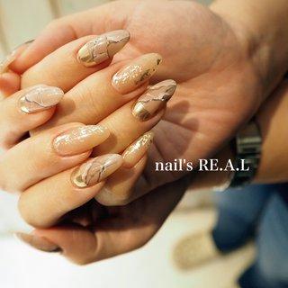 #春 #ハンド #大理石 #ロング #nail's RE.A.L 広金典子 #ネイルブック