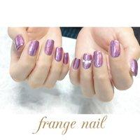 #ハンド #ミラー #ピンク #ジェル #お客様 #frange nail #ネイルブック