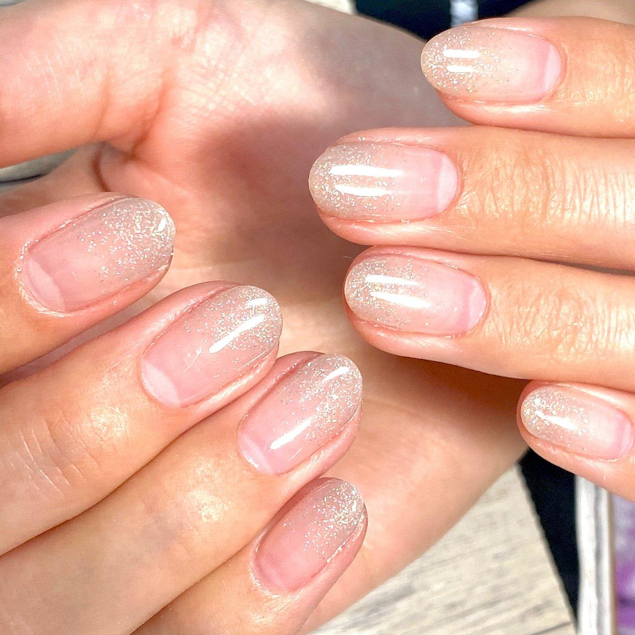 #ラメ#ラメグラデーション #azul nail #ネイルブック
