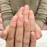 ナチュラルワンカラー。自然なお肌馴染みのいいカラーで。 #オールシーズン #オフィス #ハンド #ワンカラー #ショート #ベージュ #ピンク #ジェル #お客様 #nails tiroir #ネイルブック