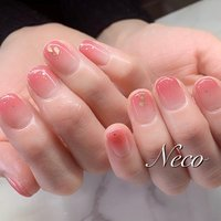 #ハンド #ラメ #グラデーション #ピンク #ジェル #お客様 #nail salon Neco #ネイルブック