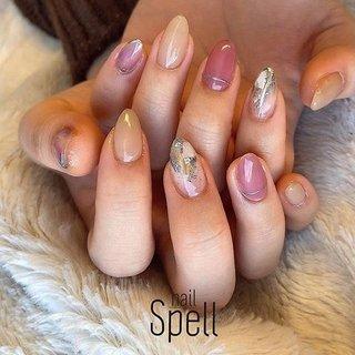 pink💅 ︙ #gelnail#gel#nailspell#nailstagrame #nailsalonspell #nails #春ネイル#ネイル#手描きアート#ジェルネイル#ネイルデザイン#シェルネイル#ネイルブック #kokoist#ネイル#上田市ネイルサロン#pinknails #ピンクネイル #nailSpell_azusa #ネイルブック