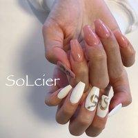 #ハンド #シンプル #ワンカラー #アニマル柄 #【SoLcier】ソルシエ #ネイルブック
