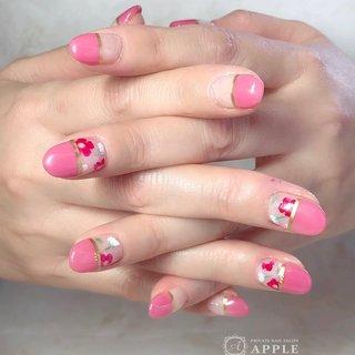 #春#ピンク#花#北欧 #akaringo2009 #ネイルブック