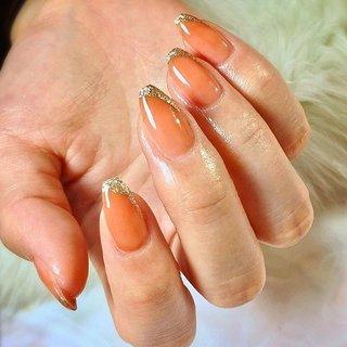 ". . "" terracotta × bronze gold french..."" . . #luxurynailvoila  #makihorita  #nail  #nails  #nailsalon  #terracottanails  #fenchnails  #naildesign  #japannails  #jelnails  #newnails  #fashion  #beauty #koiwa #バレリーナネイル  #シンプルネイル  #大人ネイル  #オシャレネイル #ファッションネイル #フレンチネイル  #ななめフレンチネイル  #上品ネイル  #テラコッタネイル  #ネイル  #ネイルデザイン  #ラグジュアリーネイルヴォアラ #小岩ネイル  #小岩ネイルサロン #オフィスネイル  #シアーネイル #Nailist maki #ネイルブック"