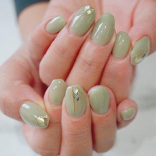 #シンプル #ピスタチオ#グリーン#かわいい #ange nail salon #ネイルブック