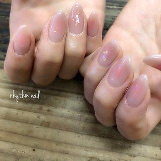 #チーク #rhythm nail #ネイルブック
