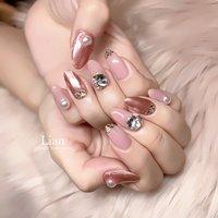 ご来店ありがとうございました❤︎ ピンクミラーで綺麗目に💗  楽しいお時間をありがとうございました❤️  #ピンクネイル#pinknails #ピンクミラーネイル#パールネイル#可愛いネイル#三木市#三木市ネイルサロン#三木市プライベートネイルサロン #private nail salon Lian #ネイルブック