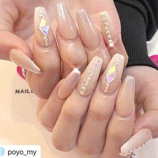 #Repost @poyo_my with @make_repost ・・・ ・  ・  🌩💎⛓ꫛꫀꪝ✧‧˚ ・ #nudenails #nailsgogo #instagood #NAILSGOGO shibuya nailsalon #ネイルブック