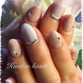 #さくら #春 #ハンド #knot in heart #ネイルブック