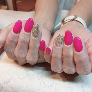 #ビビットカラー #ピンク #ショッキングピンク #ミラーボールラメ #ねこのつめとぎ まいか #ネイルブック