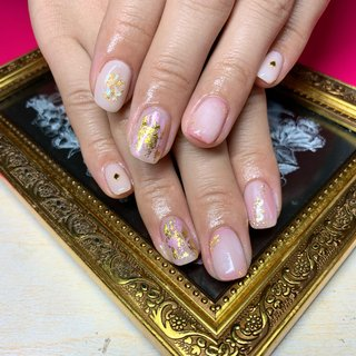 ✔️ふんわりピンクネイル💅🏽💓 . . #nail#nailstagram#やり放題B#ピンクネイル#金箔#ホイル#ミックスネイル#ふんわりネイル#pink#ネイルブック#ネイルブックおすすめサロン#ネイルブックよりネット予約可能#自宅サロン #s.♡nail #ネイルブック