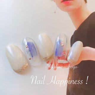 #ニュアンスカラー#ニュアンスネイル#春ネイル2020 #磯子区ネイルサロン #オールシーズン #女子会 #ワンカラー #シースルー #ニュアンス #クリア #ベージュ #ブルー #ジェル #ネイルチップ #Nail Happiness!(ネイルハピネス)*ささきまき #ネイルブック
