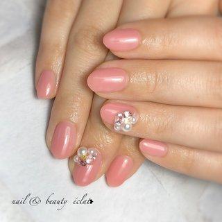 #艶々ネイル#ピンクネイル#ワンカラーネイル #nail & beauty éclat❥ #ネイルブック