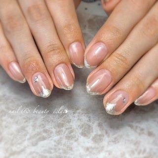 #グラデーション #くすみカラー #フレンチネイル #ハートネイル #nail & beauty éclat❥ #ネイルブック