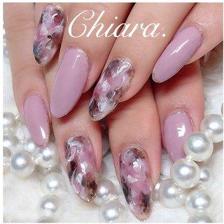 *   pinknails 💍♡     Instagram → yochan4.nail #春 #夏 #オールシーズン #リゾート #タイダイ #大理石 #マーブル #ピンク #YokoShikata♡キアラ #ネイルブック