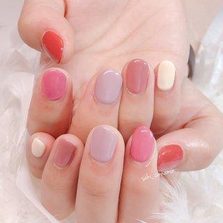 個性派ピンク💗  とってもかわいいです😊ありがとうございました🌸   #ネイル #ジェルネイル #ネイルアート #nail #nails #nailart #gelnail #福岡ネイル #福岡ネイルサロン #大牟田ネイル #美甲 #春 #シンプル #ワンカラー #ピンク #saki_cinnamon #ネイルブック