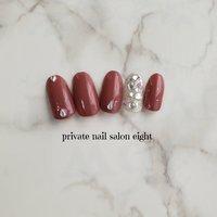 上品中にもゴージャス感‼️ キラッキラッ☆ #ハンド #ジェル #ネイルチップ #Private nail salon eight #ネイルブック