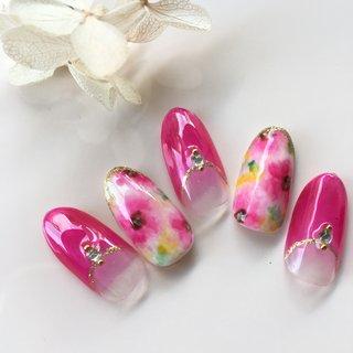 #春 #夏 #デート #女子会 #ジェル #i-shine-nail #ネイルブック