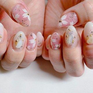 #桜 #mariringo #ネイルブック
