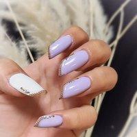 ". . ""Lipstick shapes nail style..."" . 変化を楽しむ事って素敵だと思わない?? . LifestyleもNailも新しい感覚に挑戦するのって、すっごく楽しいよ❤︎ . 枠からはみ出してね😘👌🏼 . . #luxurynailvoila  #makihorita  #nailartist  #japannails  #tokyonails  #citynails  #lipstickshapednails  #whitenails  #purplenails💜  #lavendernails  #sculpturenails  #jelnails  #naildesign  #nailstagram  #fashion  #beauty #trend  #newnails #ラグジュアリーネイルヴォアラ #小岩ネイルサロン #ネイルコーデ  #オシャレネイル #ファッションネイル  #海外風ネイル  #スタイリッシュネイル  #coolnails  #春ネイル  #2020ss  #springnails  #大人ネイル #Nailist maki #ネイルブック"