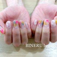 ドロップネイル🌸🌼🌸🌼 #カラフルネイル #春ネイル #BINERU beauty #静岡ネイルサロン #BINERU beauty #ネイルブック
