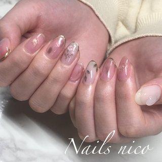 #ニュアンスフラワー #水戸市ネイル&スクール Nails nico #ネイルブック