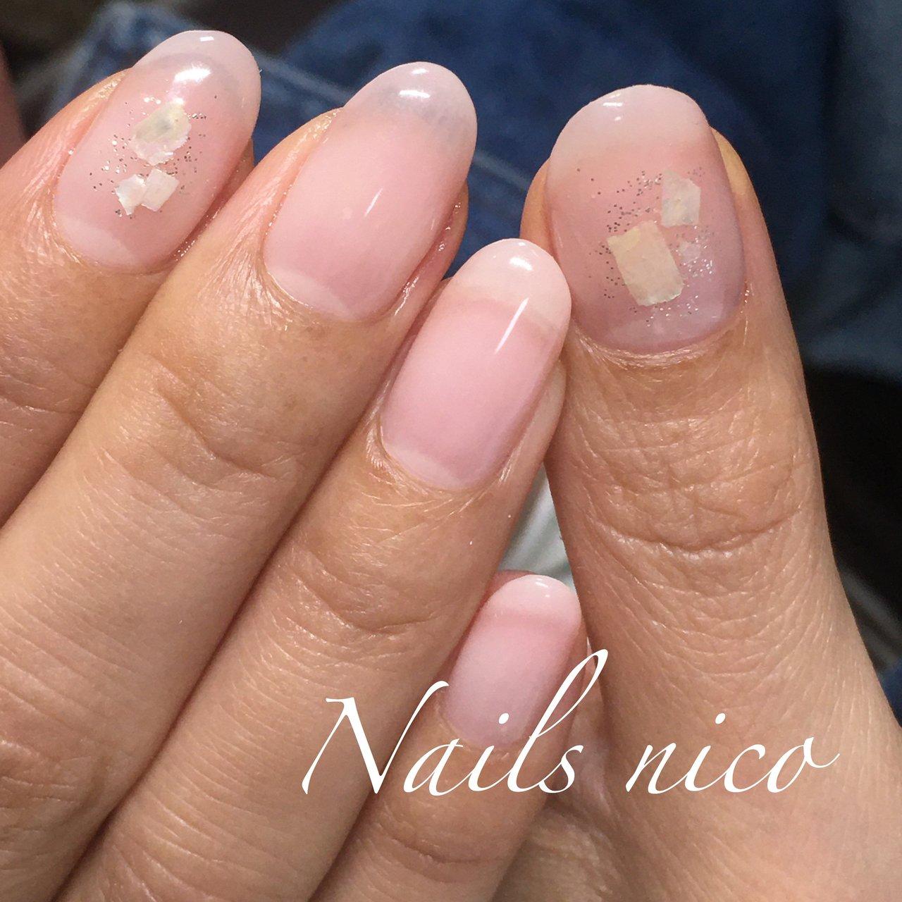#ピンクグラデーション #シェル #水戸市ネイル&スクール Nails nico #ネイルブック