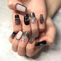 🖤🤍🖤🤍🖤🤍 #渋谷Beau're nail #ネイルブック