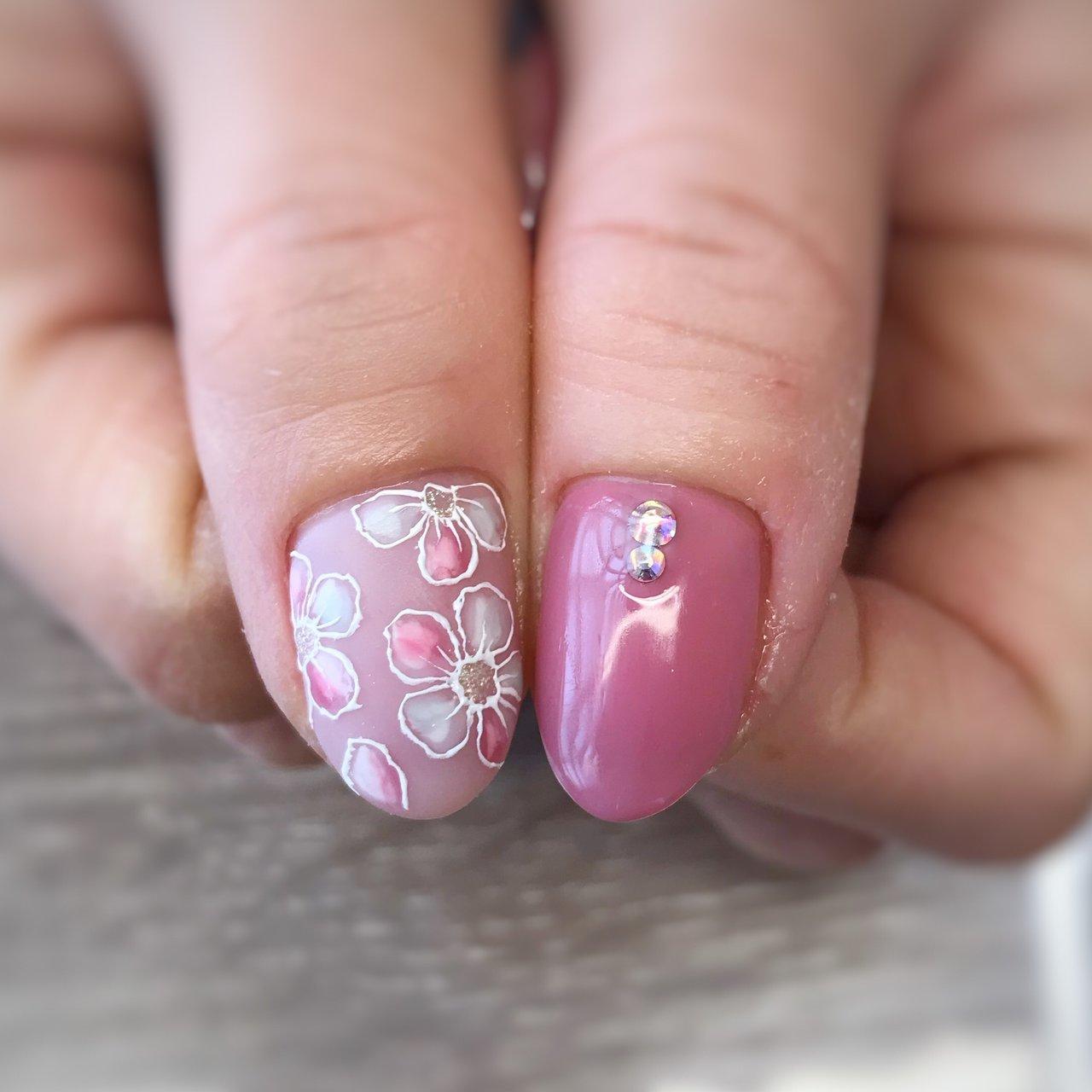#フラワーネイル#春ネイル #nail salon PROTEA #ネイルブック