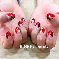 赤ネイル❤️❤️いつもありがとうございます😊 #赤ネイル #縦グラデーションネイル #BINERU beauty #静岡ネイルサロン #BINERU beauty #ネイルブック